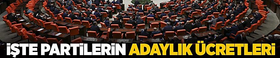 Milletvekilliği aday adaylığı ücretleri belli oldu!