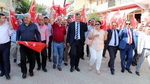 CHP Tufanbeyli'de gövde gösterisi yaptı