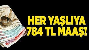 Devlet her yaşlıya 784 lira maaş bağlayacak!