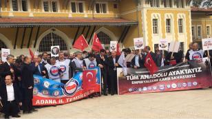 """""""Tüm Adana ayaktayız Emperyalizme karşı savaştayız"""""""