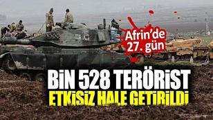 Zeytin Dalı'nda 27. gün TSK Açıkladı...