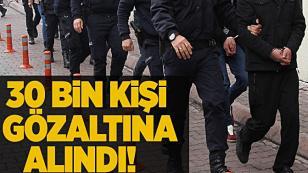 6 Bin 87 kişi tutuklandı...