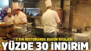Üç bin restoranttan indirim kararı! Resmen açıklandı...