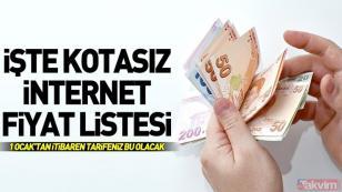 Türk Telekom kotasız internet tarifeleri belli oldu