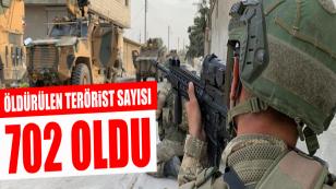 Barış Pınarı Harekatı'nda 702 terörist öldürüldü