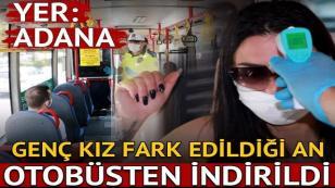 Otobüste ateşi yüksek çıkan genç kız, hastaneye götürüldü