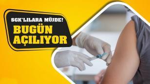 SGK'lılar için koronavirüs aşı randevusu açıldı...