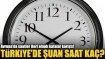 Avrupa'da Saatler 1 Saat İleri Alındı, Türkiye'de Aynı Kaldı