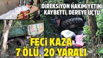 İşçileri taşıyan traktör devrildi: 7 ölü, 20 yaralı