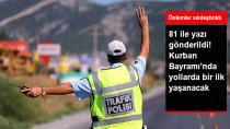 Bayram'da 53 Bin Personelle Trafik Denetimi