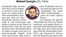 Adanalı Gazioğlu Almanlara 'Demokrasi' dersi  verdi…