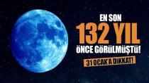 Adana'da 'Süper Kanlı Mavi Ay Tutulması'