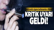 Elektronik sigara bağımlılığa yol açıyor!