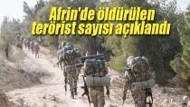 Afrin'de 3 bin 872 terörist etkisiz hale getirildi