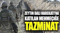 Zeytin Dalı Haretkatı'na katılan Mehmetçiğe tazminat