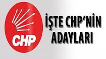 CHP'nin Kesinleşmiş Milletvekili Aday Listesi