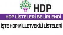 HDP'nin Milletvekili Aday Listesi...