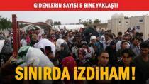 Ülkelerine gitmek isteyen Suriyeliler izdiham oluşturdu