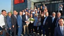 TOBB Başkanı Hisarcıklıoğlu ATB'de çiçekle karşılandı