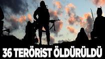 Operasyonlarda yüzlerce terörist göz altına alındı