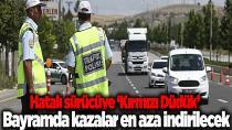 """Trafik kuralı ihlaline karşı """"kırmızı düdük"""" kampanyası"""