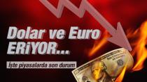 Dolar ve Euro, 1 Hafta Önceki Seviyeye Geriledi