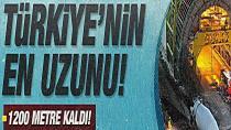 Türkiye'nin en uzun tüneli Gerede Sistemi'nde sona yaklaşıldı