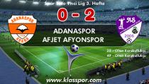 Adanaspor evinde dağıldı: 0-2