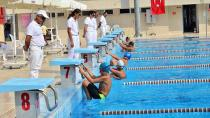 Yüzme Yarışmalarına 45 sporcu katıldı