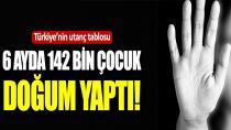 Türkiye'nin utanç tablosu: 6 ayda 142 bin çocuk doğum yaptı
