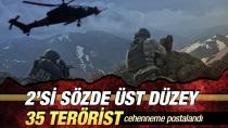 2'si sözde üst düzey 35 terörist öldürüldü