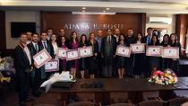 10 genç hukukçu törenle avukatlığa adım attı