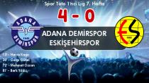 Adana Demirspor 'Es'ti: 4-0