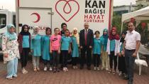 Kızılay'a kan bağışında mahalleler yarışıyor