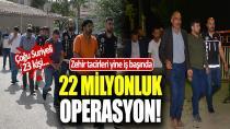 Adana'da 22 Milyon Liralık Uyuşturucuya 16 Tutuklama