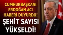 Acı haberi Cumhurbaşkanı Erdoğan verdi...
