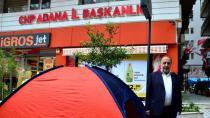 CHP'li Danışmandan Çadırlı Eylem: 'Paramı Ödemediler'