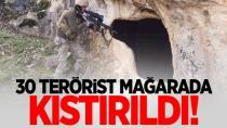 Teröristlerin sığındığı mağara lojistik üssü çıktı