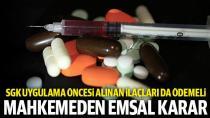 'Geri ödeme listesindeki ilaçlar' için emsal karar!