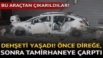 Adana'da Otomobil Direğe ve İş Yerine Çarptı: 2 Yaralı