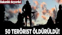 50 terörist etkisiz hale getirildi...