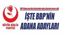 BBP Adana'da Hangi İlçede Kimle Yarışa Giriyor?