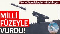 Türkiye'nin tank avcısı milli füzeyle vurdu!