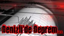 Denizli'de 5.5'lik deprem meydana geldi