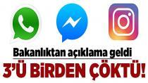 Whatsapp, Instagram ve Facebook erişimi sorunlu