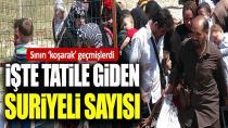 Türkiye sınırını 'koşarak' geçen Suriyeli sayısı on binleri buldu