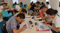Öğrencilere rahat ders çalışma ortamı...