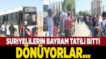 Suriyeliler Türkiye'ye dönmeye başladı...