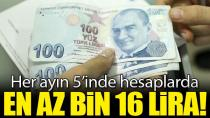 İşini kaybedene en az 6 bin 96 lira