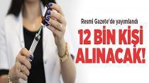 12 bin sözleşmeli sağlık personeli ilanı Resmi Gazete'de!